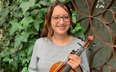 Marta, ganadora de una beca de Grado de Música