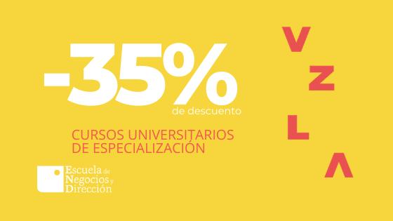 Cursos universitarios de especialización al -35%