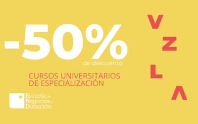 Cursos universitarios de especialización al -50%