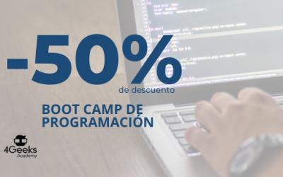 |50% de descuento| Boot camp de programación