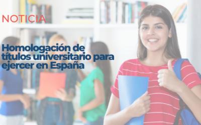 Miles de inmigrantes podrán homologar su título universitario en seis meses para ejercer en España