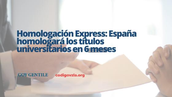Homologación Express